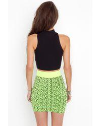 Nasty Gal | Green Neon Leopard Skirt | Lyst