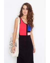 Nasty Gal - Red Block Party Bodysuit - Lyst