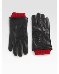 Robert Graham | Black Leather Gloves for Men | Lyst
