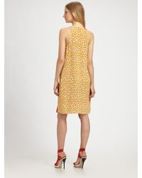 3.1 Phillip Lim - Red Sleeveless Leopard Print Ruffle Dress - Lyst