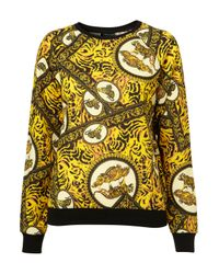 TOPSHOP | Multicolor Tiger Print Sweat | Lyst