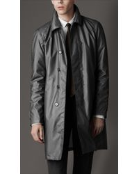 Burberry | Gray Lightweight Rain Coat for Men | Lyst