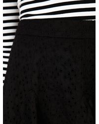 Free People - Black Eyelet Godet Mini Skirt - Lyst