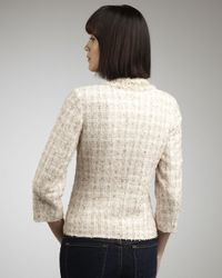 Neiman Marcus - Pink Bead-trim Tweed Jacket - Lyst