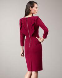 Rachel Roy - Purple Back-ruffle Dress - Lyst