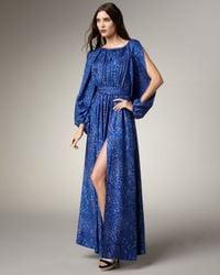 Rachel Zoe | Blue Olivia Leopard-print Gown | Lyst