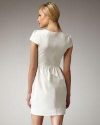 Shoshanna | White Cap-sleeve Shift Dress | Lyst