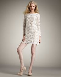 Tibi | White Swan Lace Shift Dress | Lyst