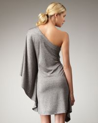 Trina Turk | Gray Rapture One-shoulder Dress | Lyst