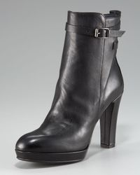 Alberto Fermani | Black High-heel Ankle Boot | Lyst