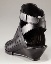 Alexander Wang - Black Nika Wedge Strappy Sandal - Lyst