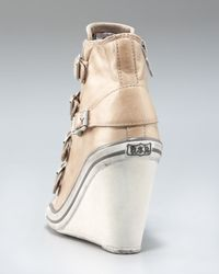 Ash | Brown Leather Wedge Sneaker | Lyst