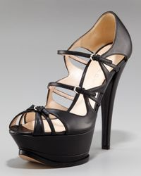 Casadei | Black Mary-jane Platform Pump | Lyst