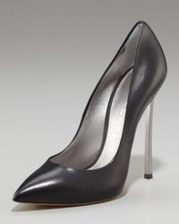 Casadei | Black Pointed-toe Blade-heel Pump | Lyst