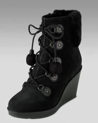 Cole Haan | Black Air Tali Waterproof Shearling Boot | Lyst