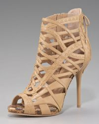 Dior | Natural Lattice Ankle Bootie | Lyst