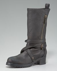 Donna Karan - Black Motorcycle Boot - Lyst