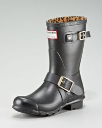 Jimmy Choo | Black Hunter Rubber Biker Rain Boot | Lyst