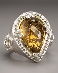 Jude Frances - Metallic Cinnamon Topaz Ring - Lyst