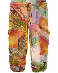 Matthew Williamson | Multicolor Tropical-print silk-mousseline pants | Lyst