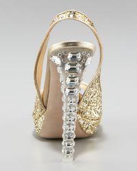 Miu Miu   Metallic Jewel-heel Glitter Pump   Lyst