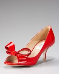 Valentino - Black Couture Bow Pump - Lyst
