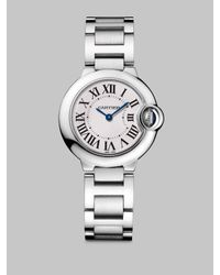 Cartier | Metallic Ballon Bleu De Small Stainless Steel Bracelet Watch | Lyst