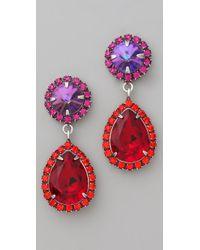 DANNIJO - Red Monaco Earrings - Lyst