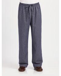 Derek Rose | Blue Flannel Lounge Pants for Men | Lyst