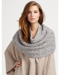 Eileen Fisher | Natural Sequined Infinity Wrap | Lyst