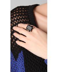 Elizabeth and James - Black Bird Claw Ring - Lyst