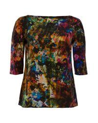 Erdem | Multicolor Arleen Printed Silk Top | Lyst