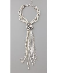 Erickson Beamon - White Wedding Necklace - Lyst