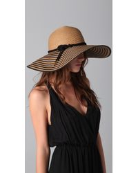 Eugenia Kim | Natural Bunny Striped Brim Straw Sunhat | Lyst