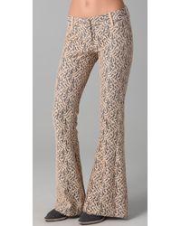 Georgie - Gray Ashley Lace Bell Bottom Pants - Lyst