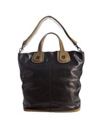 Givenchy | Black and Olive Colorblock Calfskin Nightingale Shoulder Tote | Lyst