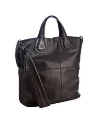 Givenchy | Black Marble Finish Lambskin Nightingale Shopper | Lyst