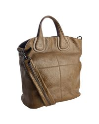 Givenchy | Brown Olive Marble Finish Lambskin Nightingale Shopper | Lyst