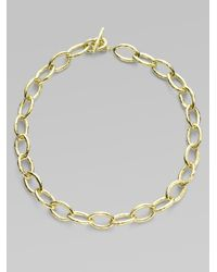 Ippolita - Metallic Glamazon 18k Yellow Gold Mini Bastille Link Chain Necklace - Lyst