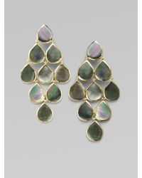 Ippolita | Green Black Shell & 18k Gold Cascade Earrings | Lyst