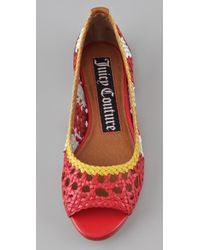 Juicy Couture - Red Prima Woven Flats - Lyst