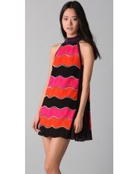 M Missoni | Pink Bold Wave Dress | Lyst