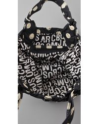Marc By Marc Jacobs - Black Pretty Nylon Printed Medium Tate Tote - Lyst