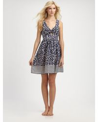 Nanette Lepore | Blue Cherry-print Sleeveless Dress | Lyst