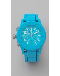 Nixon | Blue The Rubber 42-20 Chrono Watch | Lyst