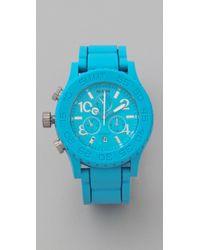 Nixon - Blue The Rubber 42-20 Chrono Watch - Lyst