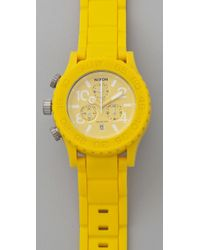 Nixon | Yellow The Rubber 42-20 Chrono Watch | Lyst