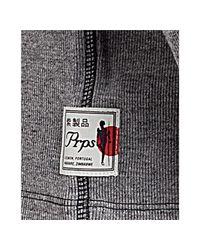 PRPS | Gray Light Grey Cotton Heavy Knit Crewneck T-shirt for Men | Lyst