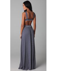 Rachel Pally - Blue Stripe Cutout Dress - Lyst