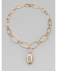 Roberto Coin - Pink Diamond and 18k Rose Gold Necklace - Lyst